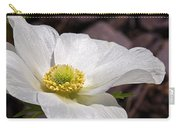 Sparkling White Anemone Carry-all Pouch