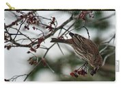 Sparrow Eating Berry Carry-all Pouch