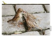 Sparrow Feeding Fledgelings Carry-all Pouch