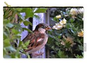 Sparrow In The Shrubs Carry-all Pouch
