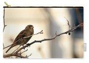 Sparrow On A Limb Carry-all Pouch