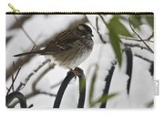 Sparrow On Fence Carry-all Pouch