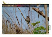 Sparrow On The Cattails Carry-all Pouch