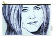 Speed Drawing Of Jennifer Aniston  Carry-all Pouch