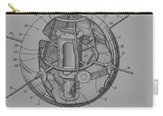 Spherical Satellite Structure Patent 1957 Carry-all Pouch