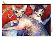 Sphynx Cats Sphinx Family Painting  Carry-all Pouch