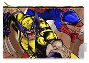 Spider And The Wolverine Carry-all Pouch