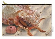 Spider Conch Shell On The Beach Carry-all Pouch