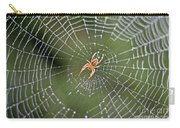 Spider In A Dew Covered Web Carry-all Pouch
