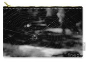 Spider Web Black White Carry-all Pouch