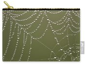 Spider Web With Water Droplets  Carry-all Pouch
