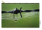 Spiderweb On Fencing Carry-all Pouch