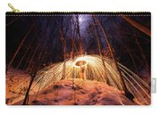Spinning Steel Wool In Snow Carry-all Pouch