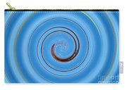 Have A Closer Look. Spiral Art With Light And Dark Blue Embossing Effect.  Carry-all Pouch