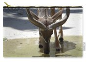 Spiral Horned Antelope Drinking Carry-all Pouch