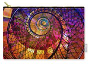 Spiral Spacial Abstract Square Carry-all Pouch