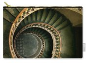 Spiral Staircase  In Green And Yellow Carry-all Pouch