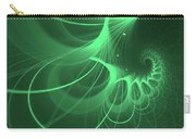 Spiral Thoughts Green Carry-all Pouch
