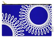 Spirals With Blue Carry-all Pouch