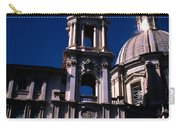 Spire And Cupola St Agnese In Agone Piazza Navona Rome Italy Carry-all Pouch