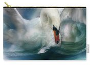 Spirit Of The Swan Carry-all Pouch by Carol Cavalaris
