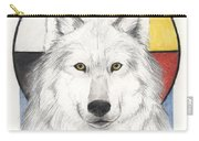 Spirit Wolf Carry-all Pouch by Brandy Woods