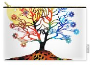 Spiritual Art - Tree Of Life Carry-all Pouch by Sharon Cummings