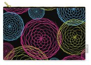 Spiro Blooms In Noir Carry-all Pouch
