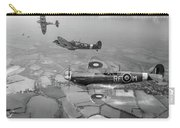 Spitfire Sweep Black And White Version Carry-all Pouch