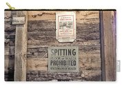 Spitting Prohibited Carry-all Pouch