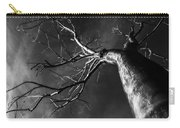 Split Black And White Carry-all Pouch