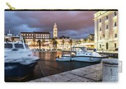 Split Harbor Night View In Croatia Carry-all Pouch