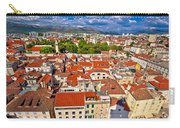 Split Old City Center Aerial View Carry-all Pouch