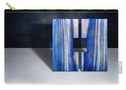 Split Square Blue Carry-all Pouch
