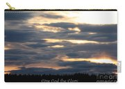 Spokane Sunset - Give God The Glory Carry-all Pouch