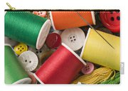Spools Of Thread With Buttons Carry-all Pouch
