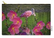 Spoonbill Through The Flowers Carry-all Pouch