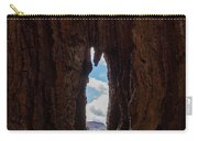 Spot The Lake Shore View Through The Hollow Tree Trunk Carry-all Pouch