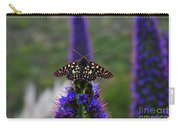 Spotted Moth On Purple Flowers Carry-all Pouch