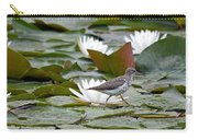 Spotted Sandpiper And Lilies Carry-all Pouch