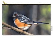Spotted Towhee Portrait Carry-all Pouch