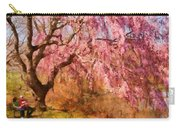 Spring - Sakura - A Beautiful Spring Day  Carry-all Pouch by Mike Savad