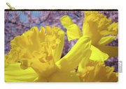 Spring Art Prints Yellow Daffodils Flowers Pink Blossoms Baslee Troutman Carry-all Pouch