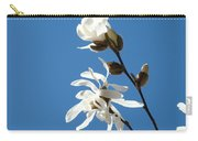 Spring Blue Sky Floral Art Print White Magnolia Tree Baslee Troutman Carry-all Pouch
