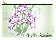 Spring Bouquet  With Three Irises.  Carry-all Pouch