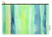 Spring Colors Stripes Pattern Vertical Carry-all Pouch