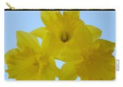 Spring Daffodils 2 Flowers Art Prints Gifts Blue Sky Carry-all Pouch