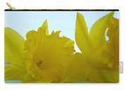 Spring Daffodils Flowers Art Prints Blue Skies Carry-all Pouch