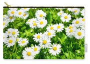 Spring Daisy In The Meadow Carry-all Pouch