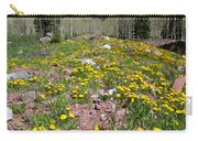 Spring Dandelion And Mountain Landscape Carry-all Pouch